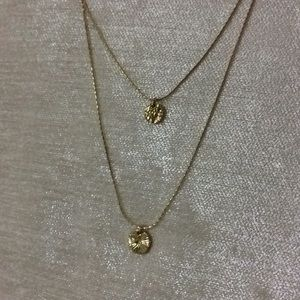 Forever 21 Jewelry - Double layered gold circle necklace